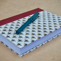 A5 Quarter-bound Hardback Page-a-day Journal with decorative bee cover