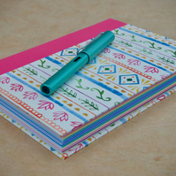 A5 Quarter-bound Hardback Page-a-day Journal with decorative patterned cover