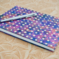 A5 Hardback Watercolour Sketchbook with handmade paper cover