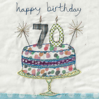 Age 70 birthday card