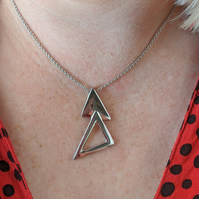 Helvellyn silver mountain triangles pendant sterling silver