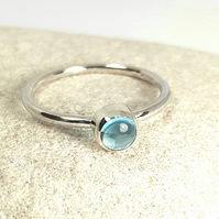 Silver Topaz Stacking Ring