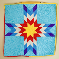 Lone Star Patchwork and Quilted Wall hanging