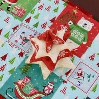 Fabric Christmas Tree Table Decoration
