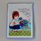 Inspirational Mini Quilt Wall Hanging or Table Topper