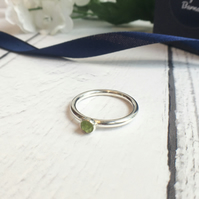 Peridot Eco Sterling Silver Ring