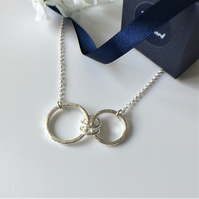 Eco Sterling Silver Family Infinity Necklace