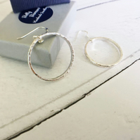 Large Hoop Earrings - Eco Sterling Silver