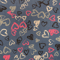 Heart Print Denim