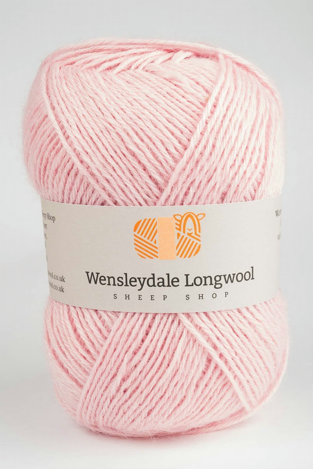 Wensleydale Longwool Double Knit Yarn - Marshmallow Pink