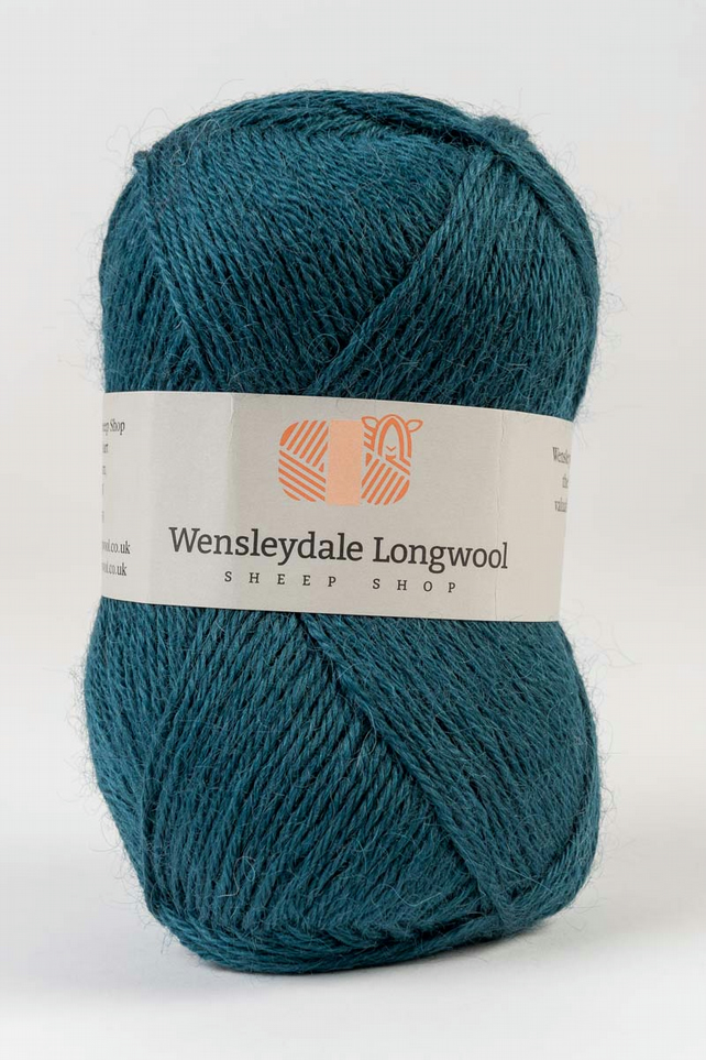 Wensleydale Longwool Double Knit Yarn - Teal
