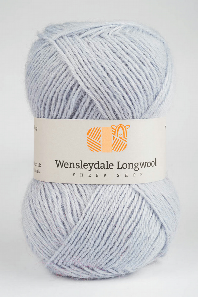 Wensleydale Longwool Double Knit Yarn - Mizzle Grey
