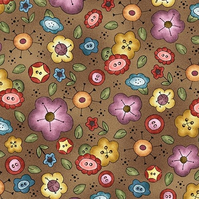 Michael Miller Background Bouquet Fabric
