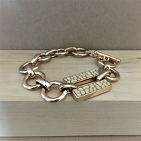 Half price - Up-cycled copper color stainless steel bracelet