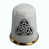 Personalised Celtic Knot China Thimble