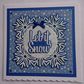 3D Luxury Handmade Christmas Card Let It Snow Glitter Snowflakes Stars Blue