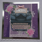 3D Luxury Handmade Card Vintage Paper Typewriter Pink Roses Silver Foil Hello