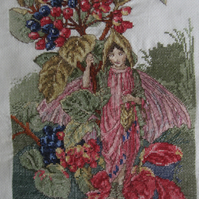 Handmade Completed Cross Stitch 'Fairy''