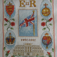 Handmade Completed Cross Stitch 'Golden Jubilee''