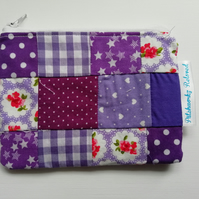 Fabric Patchwork Zipped Coin Purse