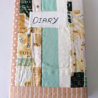 Diary A6 Patchwork Fabric Cover