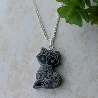 Cute Little Fox Resin Pendant Necklace