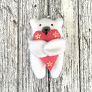Polar Bear with heart hanging decoration