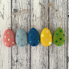 Sequin Studded Easter Eggs Decorations