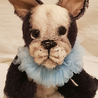 Sewing Kit to create French Bull Dog Mohair Bear Kit