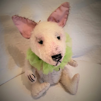 Sewing Kit to create 12 inch Bull Terrier Dog Mohair Bear Kit