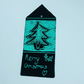 Stained glass christmas tree hanging decoration, gift tag, green