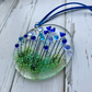 Fused glass floral suncatcher, housewarming gift, gift for her