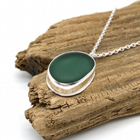 Gorgeous Green Sea Glass Necklace