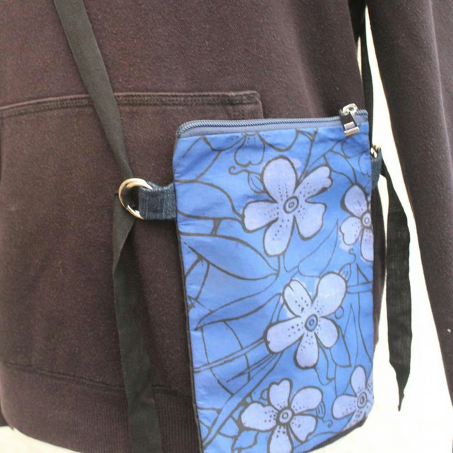 Handmade hip belt bag,festival bag,reversible travel belt bag,zero waste gift.