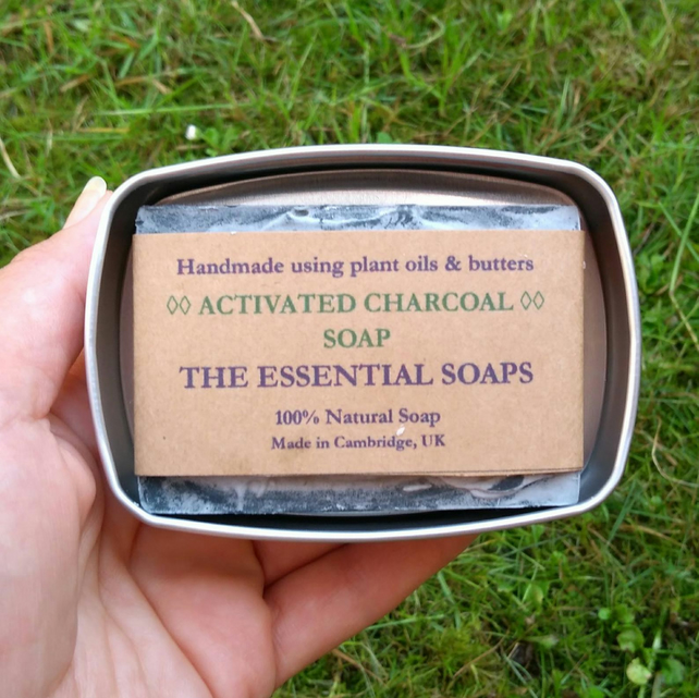 Activated Charcoal Soap, Soothing Soap, Acne Soap, Teenage Skin, Facial Soap