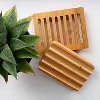Bamboo Soap Dish, Soap Tray, Natural, Plastic Free, Nature, Bathroom Accessories