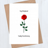 Rose Anniversary Card - Hey Gorgeous