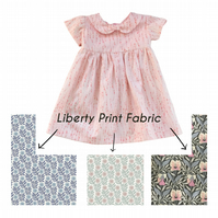 Girls Summer Dress in Liberty of London Cotton