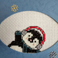 Christmas penguin cross stitch card