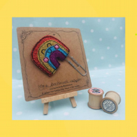 Rainbow Glitter Bookmark