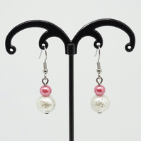 Pink & Ivory Earrings