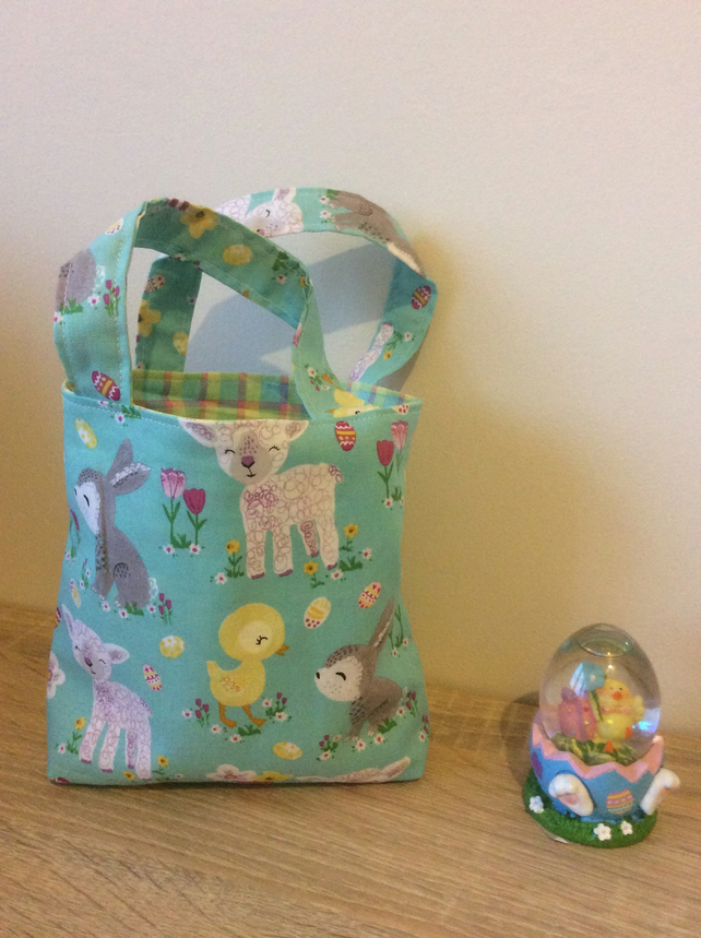 Easter gift bag; Easter egg hunt bag