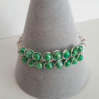 Green Hues Bracelet. South Sea Shell Bracelet, Birthday Gift, Christmas Gift