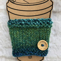 Knitted Chunky Yarn Travel Cup Cosy