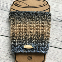 Hand Knitted Reusable Travel Cup Cosy