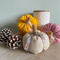Fabric pumpkin, fabric pumpkins, autumn home decor, pumpkin ornament