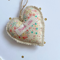 Personalised heart door hanger gift