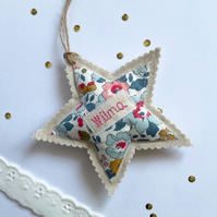 Personalised star door hanger gift