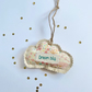 Personalised cloud door hanger gift