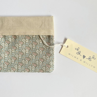 Washable face mask bag for 2 masks- pouch- storage